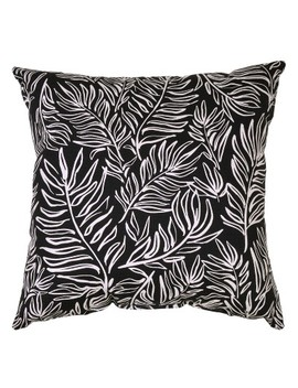 Square Outdoor Throw Pillow   Leaves Black   Project 62™ by Project 62™