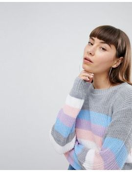 Daisy Street Relaxed Jumper In Stripe by Daisy Street