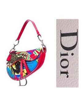 Bnwot Christian Dior Limited Ed Dior Saddle Bag, Purse Rasta Bob Marley by Christian Dior