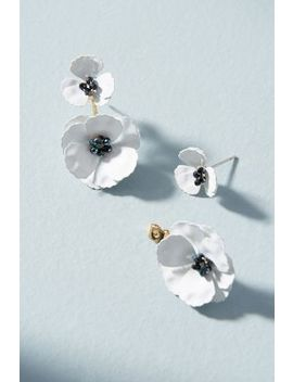 May Flowers Front Back Earrings by Anthropologie