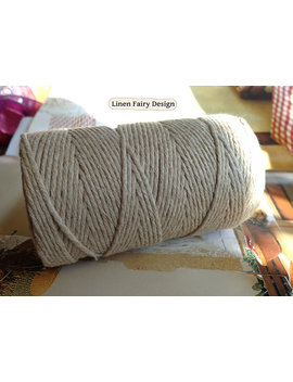 Raw Linen Cord Elegant Yarn Unpolished 1,5 2 Mm Spool 100 M/111 Yds Natural Light Grey Organic Cord For Jewelry Craft Art Free Chemicals by Linen Fairy Design