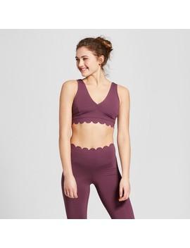 Women's Lightweight Premium Scalloped Edge Sports Bra   Joy Lab™ by Joy Lab™
