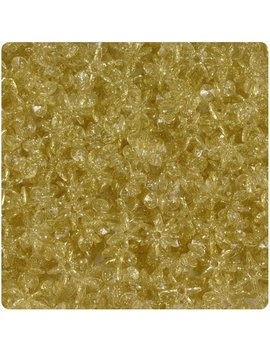 Beadtin Gold Sparkle 10mm Sun Burst Craft Beads (400pc) by The Beadery