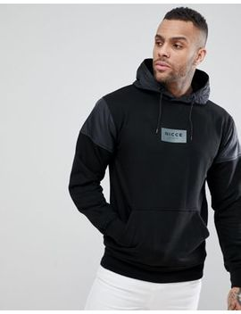 Nicce London Track Hoodie In Black by Nicce London