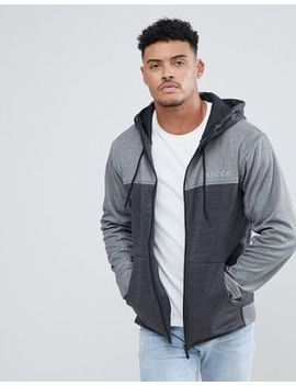 Nicce London Track Zip Thru Hoodie In Gray by Nicce London