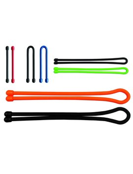 Nite Ize Gtba A2 R8 Original Gear Tie, Reusable Rubber Twist Tie, Made In The Usa, Assortment, 8 Pack by Nite Ize