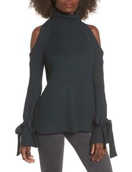 Cold Shoulder Turtleneck Sweater by J.O.A.
