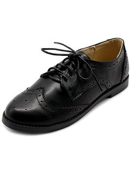 Ollio Women's Flats Shoes Wingtip Lace Up Oxfords by Ollio