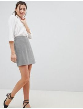 Asos Design A Line Mini Skirt In Dogtooth Check by Asos Design
