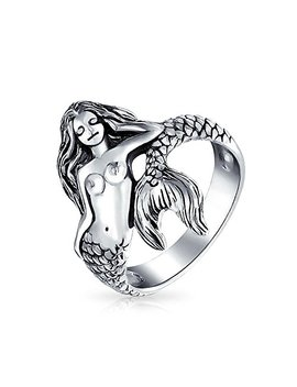 Bling Jewelry 925 Silver Antique Style Nautical Sea Nymph Mermaid Ring by Bling Jewelry