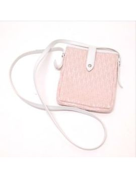 Auth Christian Dior Shoulder Pouch Shoulder Bag Pink Canvas Women by Christian Dior