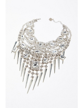 Square Crystal Double Necklace by Free People