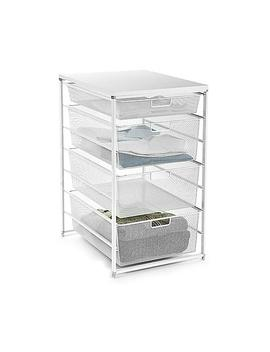 White Elfa Mesh Closet Drawers by Container Store