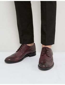 Frank Wright Brogues In Burgundy Leather by Frank Wright