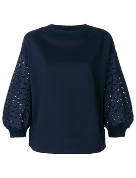 Lace Sleeve Top by Moncler