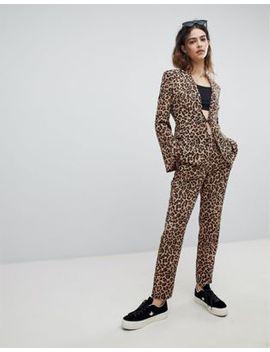 Unique 21 Cigarette Trousers In Leopard Print Co Ord by Unique 21