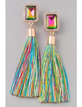 Multi Colored Tassel Earrings by Etsy