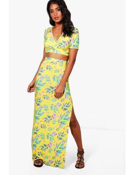 Ida Tropical Crop & Maxi Skirt Co Ord by Boohoo