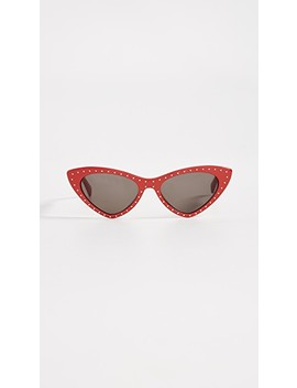 Pointed Cat Eye Sunglasses by Moschino