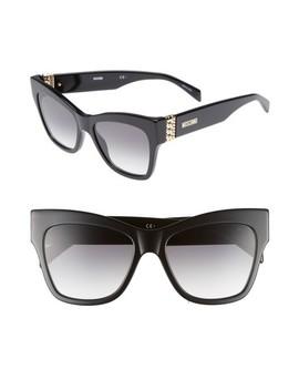 53mm Cat's Eye Sunglasses by Moschino