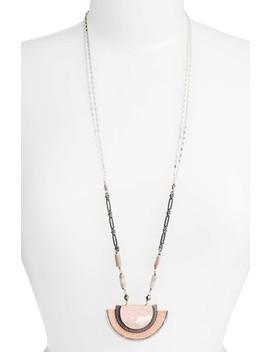 Half Moon Stone Pendant Necklace by Nakamol Design