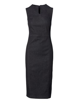 Slit Neck Denim Sheath Dress by Banana Repbulic