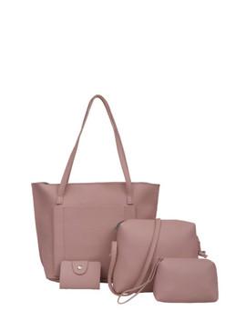 Pocket Front Tote Bag & Crossbody Bag & Clutch & Card Holder by Sheinside