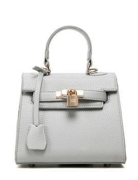 Lock Flap Pebble Pattern Handbag by Sheinside
