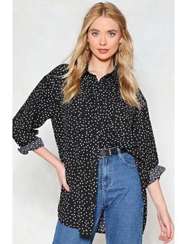 Oversized Before Guys Polka Dot Shirt by Nasty Gal