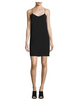 V Neck Camisole Dress, Black by Vince