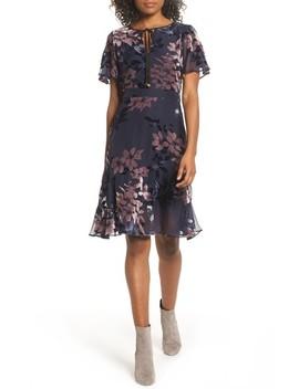 Burnout Floral Flare Hem Dress by Sam Edelman