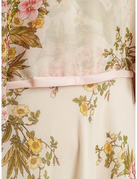 Rose Print High Neck Tiered Silk Georgette Gown by Giambattista Valli