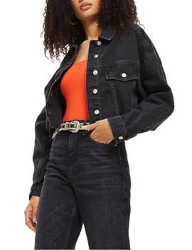 Raw Edge Crop Denim Jacket by Topshop