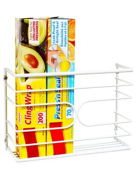 Deco Bros Wall Door Mount Kitchen Wrap Organizer Rack, White by Deco Brothers