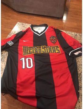 New York Metrostars Mls Nike Dri Fit Jersey Adult Large Home Kit #10 Ramos by Nike