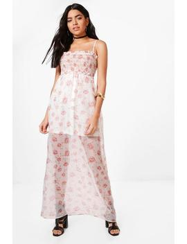 Lilly Floral Sleeved Woven Maxi Dress by Boohoo