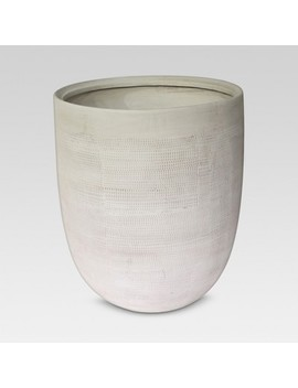 "14"" Textured Ceramic Planter   White   Threshold™ by Shop This Collection"