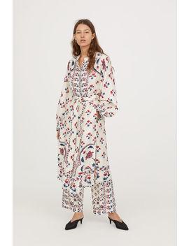 Patterned Linen Blend Kimono by H&M