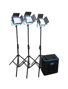 Led500 S Series Bi Color 3 Light Kit With V Mount Battery Plates And Soft Case by Dracast