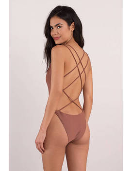 Next To You Rose Strappy Monokini by Tobi