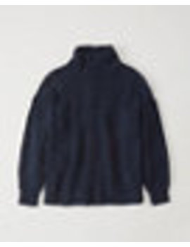 Button Shaker Turtleneck Sweater by Abercrombie & Fitch
