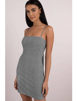 Ava Black And White Gingham Bodycon Dress by Tobi