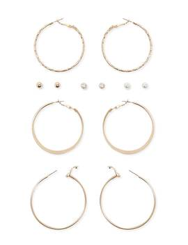 Assorted Stud And Hoop Earring Set by Forever 21