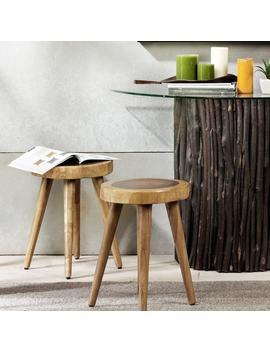 Ink+Ivy Arcadia Natural Dining Stool (Set Of 2) by Ink And Ivy