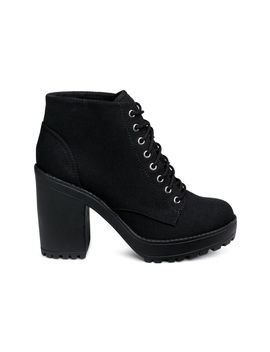 Plateauboots Aus Canvas by H&M