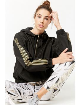 Active Striped Anorak Jacket by Forever 21