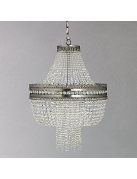 John Lewis Lucia Crystal Chandelier, Crystal/Clear by John Lewis