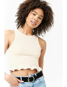 Ruffle Hem Tank Top by Forever 21