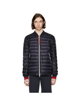 Navy Down Dane Jacket by Moncler
