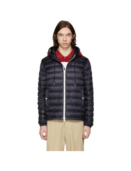 Navy Down Ceze Jacket by Moncler